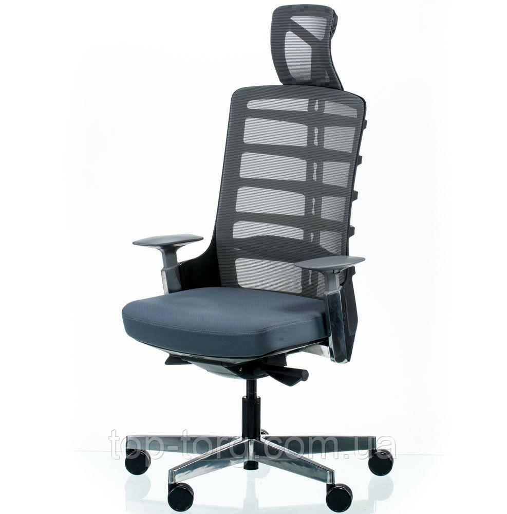Кресл керівника, офісне SPINELLY SLATEGREY/BLACK сірий з чорним