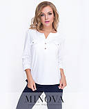 Блуза рубашка прямого кроя Производитель  ТМ Минова раз. 42,44,46, фото 2