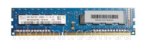 Память Hynix DDR3 2GB PC3-12800U (1600Mhz) (HMT325U6EFR8C-PB)(8x1) комиссионный товар