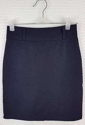 Классическая школьная юбка карандаш темно-синяя  р 140-164, фото 2