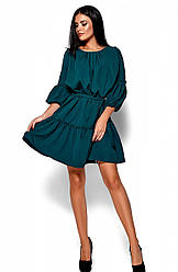 Женское платье Поля, темно-зеленое, р.42-48,