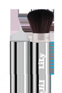Кисть для пудры (бордо,серебро) Lily B1202, фото 2