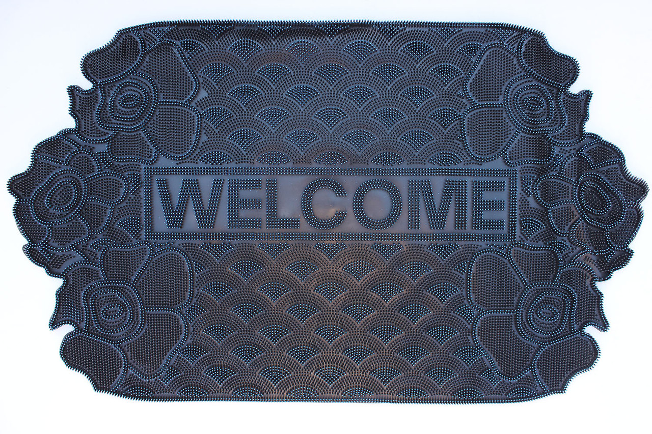 "Резиновый коврик ""Welcome"" 45х75 (зелёный)"