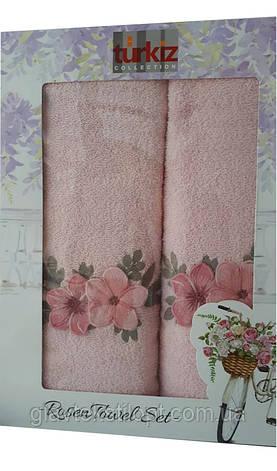 Подарочный набор полотенец Turkiz Турция (2 шт), фото 2