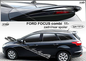 Спойлер козирок заднього скла, тюнінг Ford Focus Mk3
