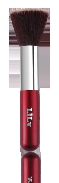 Кисть для нанесения тональной основы (красная) Lily B1206