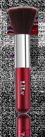 Кисть для нанесения тональной основы (красная) Lily B1206, фото 2