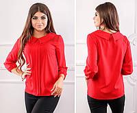 Блуза кружево арт. 124 красная, фото 1