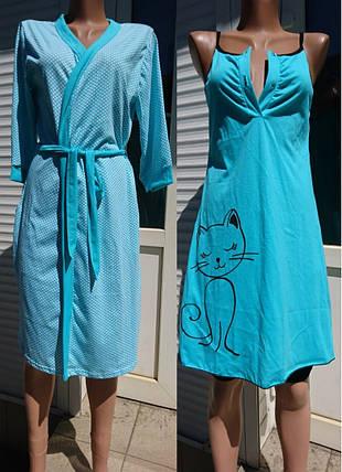 Набор халат + ночная рубашка, фото 2