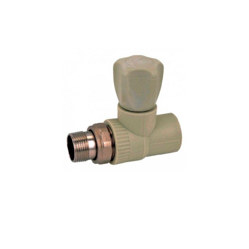 KOER вентиль радиаторный прямой 20x1/2  для пайки полипропиленовых труб PPR