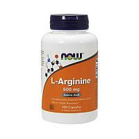 L-Arginine 500 mg NOW (100 cap) USA (Л-аргинин; предтрен)
