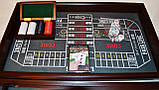 Казино 4 в 1: рулетка, покер, кости, блэкджек настольная игра, фото 2