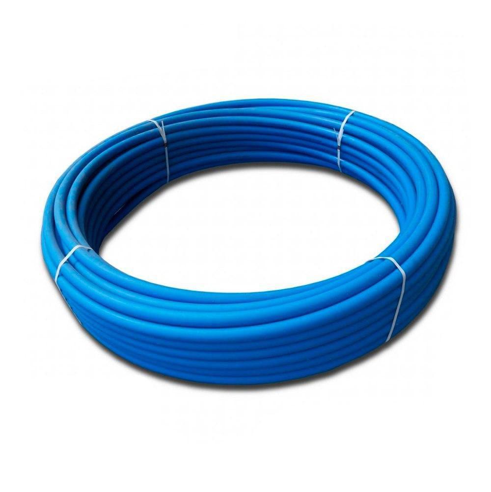 Труба d90*4,3 PN6 ПЭ80 полиэтиленовая Акведук синяя питьевая