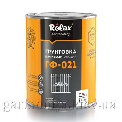 Грунтовка для металла Rolax ГФ-021 Красно-коричневый 0.9 кг, фото 2