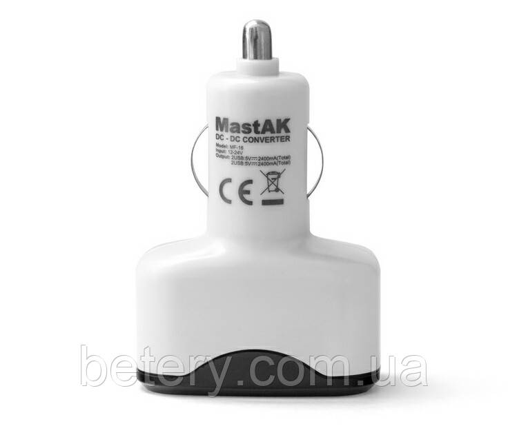 Зарядное устройство MastAK MF-16 ( USB 5v 4.8A )