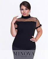 Блузка с короткими рукавами большого размера Производитель ТМ Минова, фото 1
