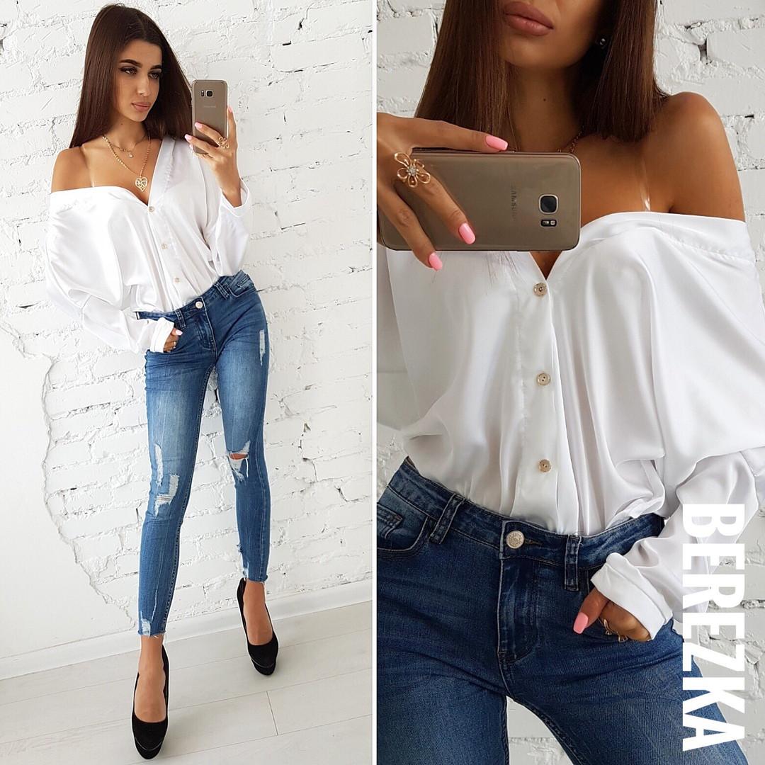 62dd9fe0f83 Купить шикарная блузка с глубоким декольте в расцветках АМЛ-1808.005 ...