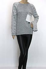 Жіноча вязана тепла кофта светр, фото 3