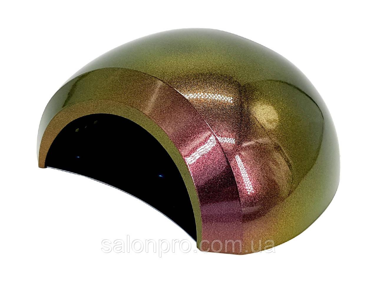 UV/LED лампа 48 Вт, для сушки геля и гель-лака, с вентилятором, хамелеон зелено-фиолетовая