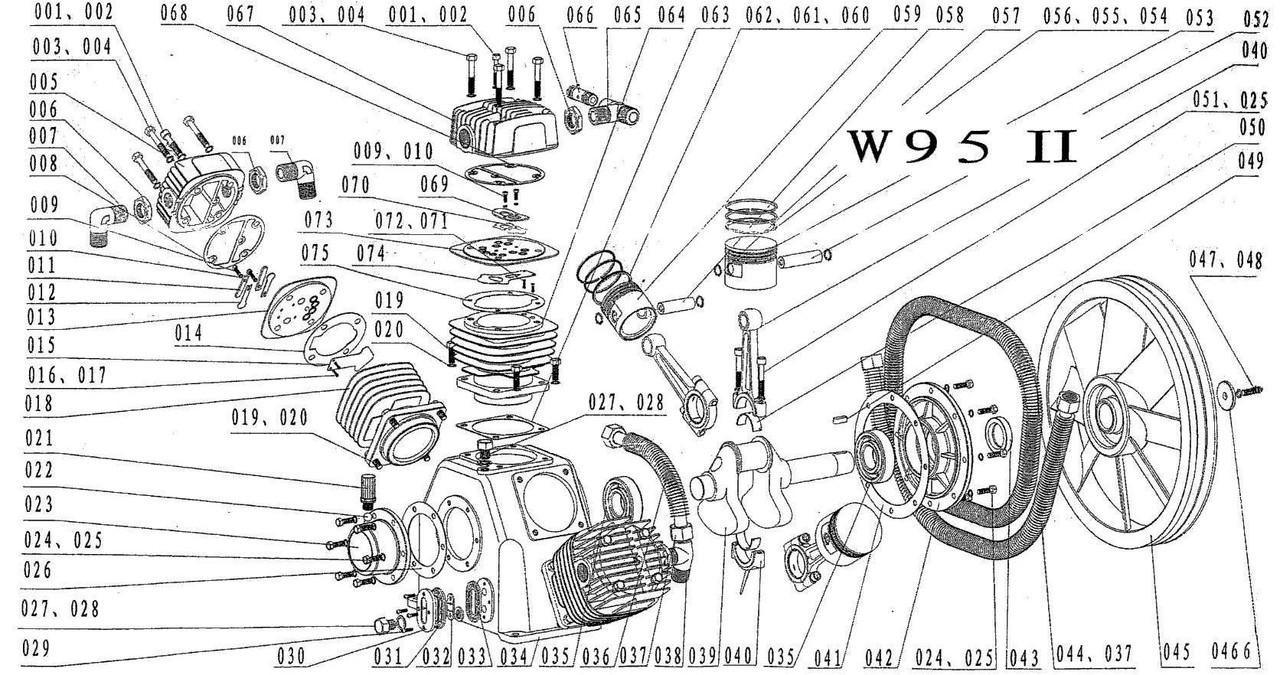 Запчастини до поршневому блоку W-95
