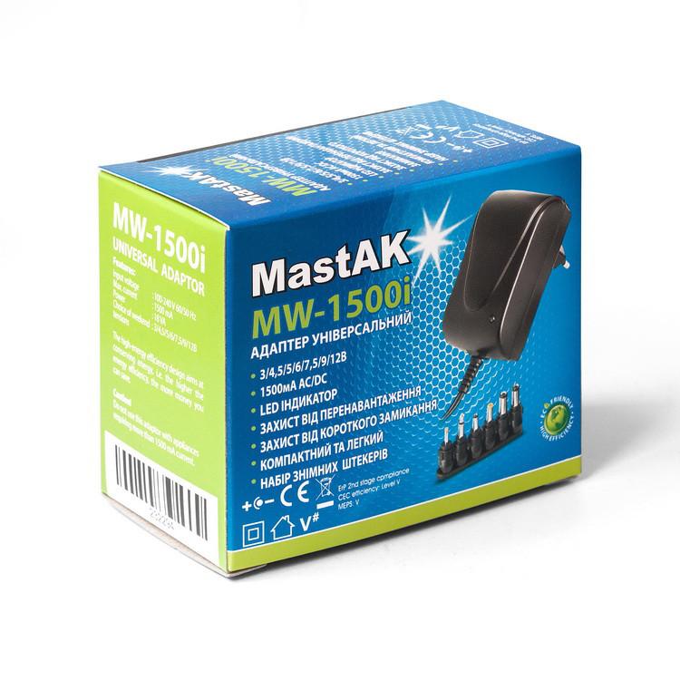 Универсальный блок питания MastAK MW-1500i (3v-12v 1500mA)