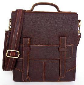 Сумка мужская Vintage 14060 кожа Коричневая