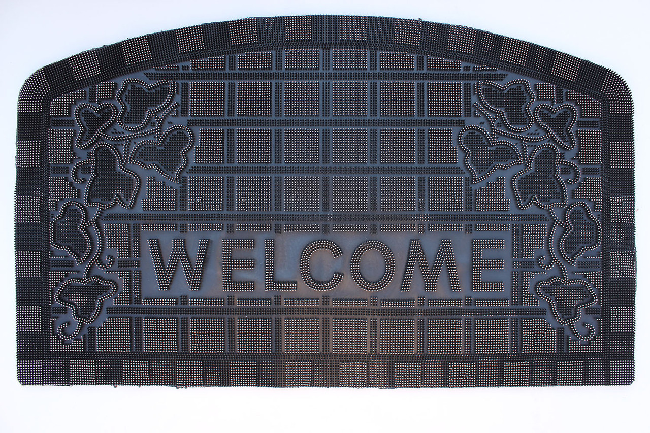 "Резиновый коврик ""Welcome"" 45х75 (белый)"