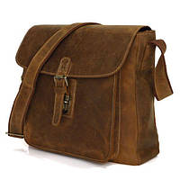 47f286e6f9e8 Сумка мужская Vintage из натуральной кожи винтажной коричневой кожи 14082
