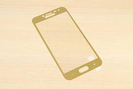 Защитное стекло Silk Screen для Samsung Galaxy J2 2018 j250 тех.пакет (Gold)