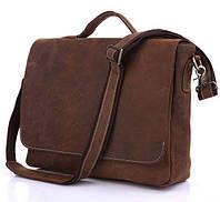 Портфель деловой из натуральной кожи коричневого цвета Vintage 14092
