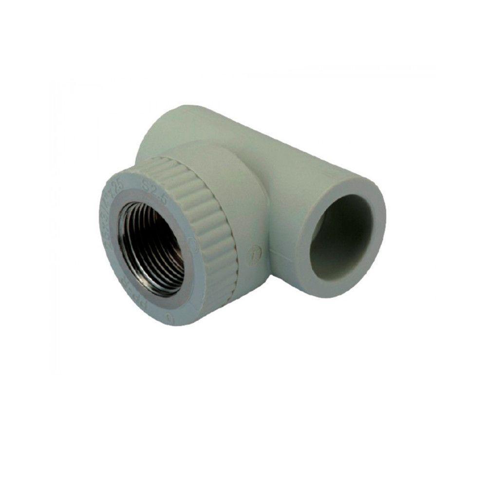 KOER тройник резьба внутренняя 25x3/4f для пайки полипропиленовых труб PPR