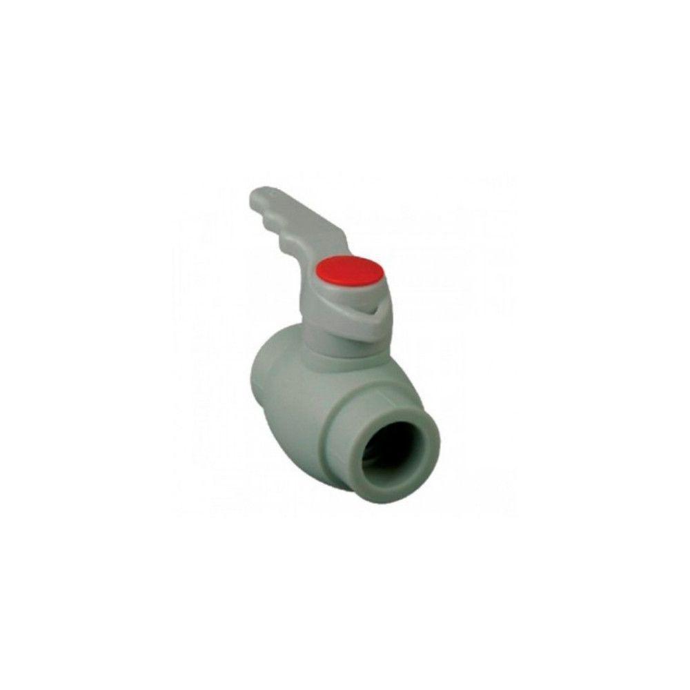 KOER кран шаровый (ручка) для горячей воды 32  для пайки полипропиленовых труб PPR