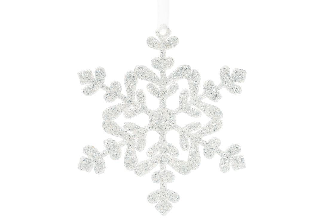 Елочное украшение Снежинка 11см, цвет - морозный голубой BonaDi 788-545