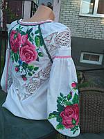 Блуза женская с вышивкой БЖ 1508 вышиванка, вышитая блузка, вишита блузка, вишиванка