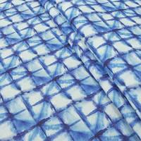 Экокоттон, геометрия, голубо-синий