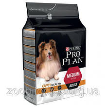Корм Purina Pro Plan (Пурина Про план) ADULT MEDIUM для взрослых собак средних пород (курица), 14 кг