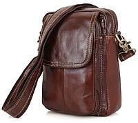 d03774876054 Коричневая мужская городская сумка на плече из натуральной кожи Vintage  14417