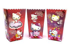 Коробки для попкорну Hello Kitty 5 штук червоні