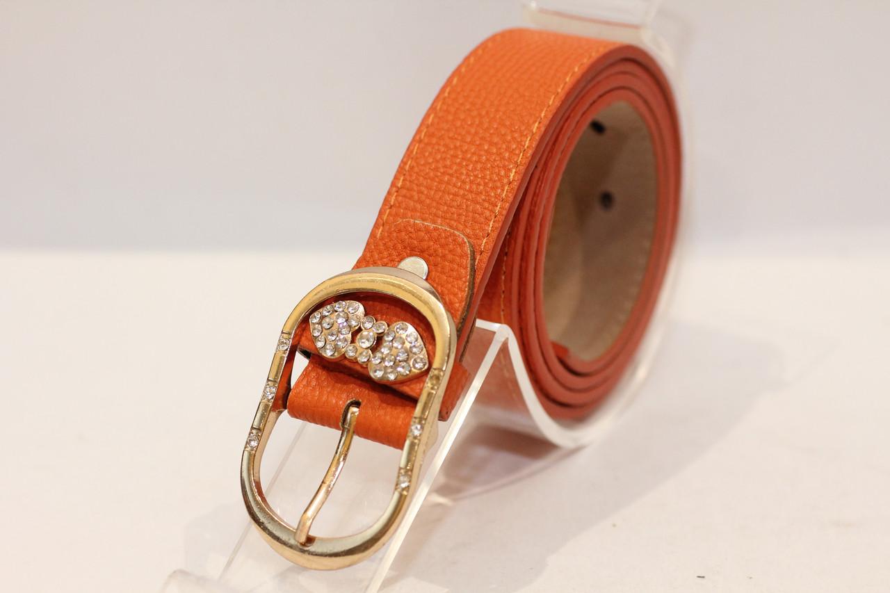 Жіночий пояс оранжевого кольору (13199)