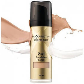 Тональный крем Max Factor Ageless Elixir 2 in 1 Foundation + Serum  реплика