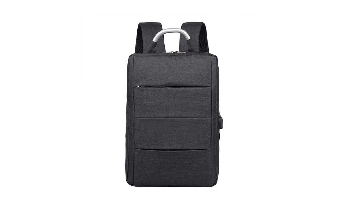 Многофункциональный городской рюкзак SUNROZ City Backpack с USB выходом 29*12*39 см Черный (SUN1603)
