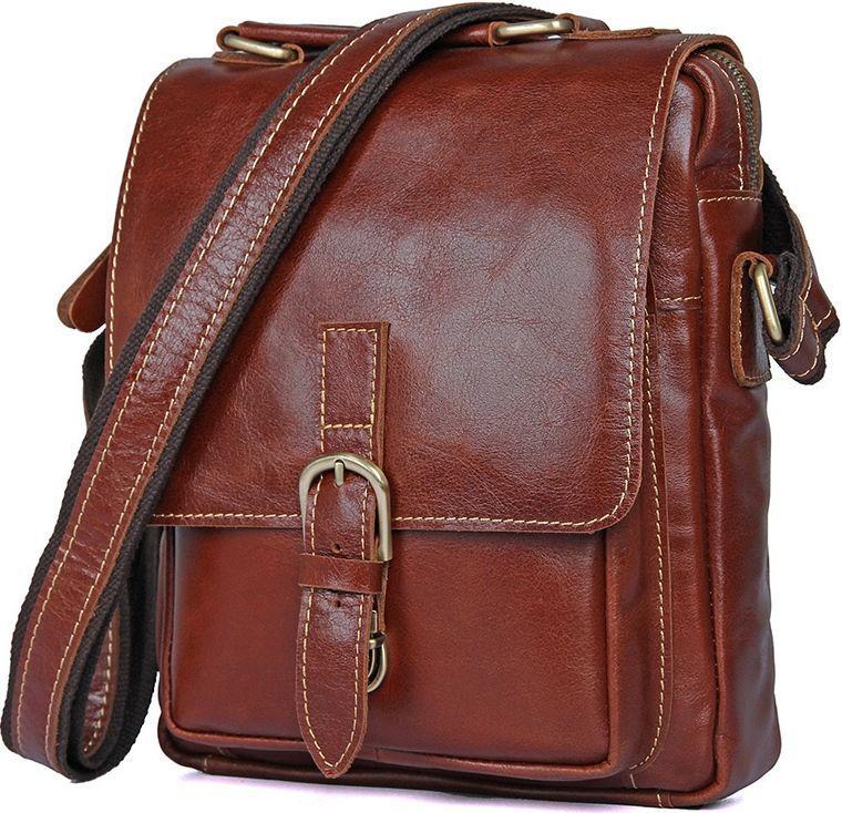 a832057ada6c Коричневая мужская сумка в стильном дизайне из натуральной кожи Vintage  14457