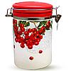 Емкость для сыпучих продуктов 1,2 л. 'Калина красная' (d-10см, h-16)