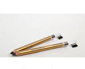 Карандаш для век и бровей с расческой FFLEUR Eyebrow Pencil, цвет черный  реплика