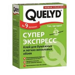 Универсальный клей для бумажных и легких виниловых обоев Quelyd Супер Экспресс 250гр