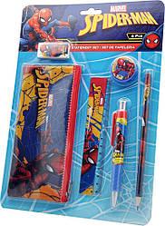 """Набор """"Spiderman"""" пенал + 5 предметов канцелярии, ТМ """"Kstationery"""""""