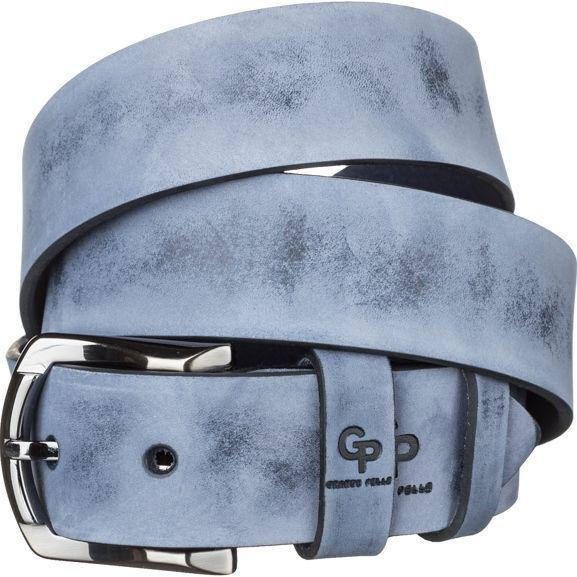 Ремень мужской Grande Pelle 11063 из итальянской кожи Синий