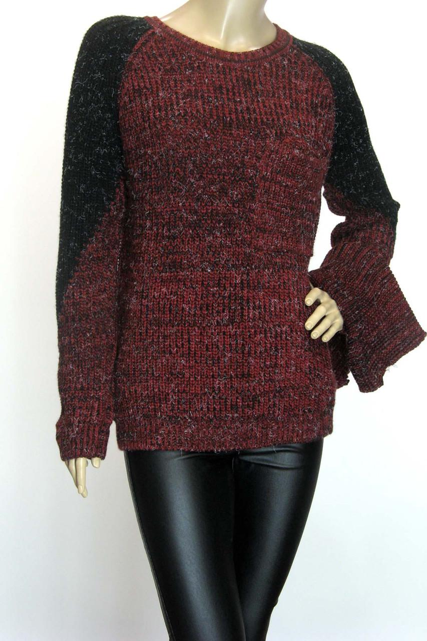 вязаний жіночий светр з хомутом Binka