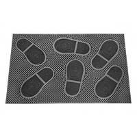 Коврик резиновый придверный 58*36,5*0,5 K-117 следы