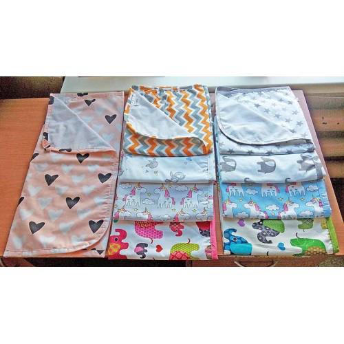 Непромокаемая двухсторонняя многоразовая пеленка 50х70 см -  Интернет-магазин «Vilena» в Киеве 8666ddd1bb8